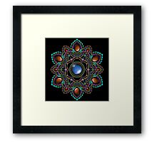 Purple and Teal Mandala with Gemstones Framed Print