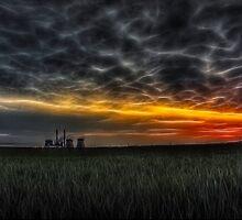 Ferrybridge Sunrise by Nigel Butterfield