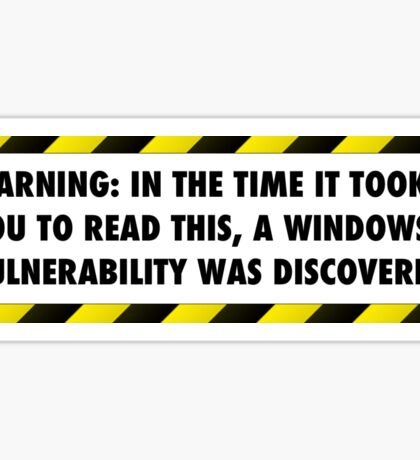 Windows Vulnerability Sticker