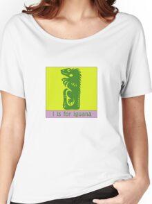 Iguana Animal Alphabet Women's Relaxed Fit T-Shirt