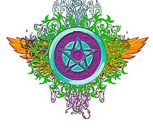 COLORFUL PAGAN MOTORCYCLE PATCH by LadyEvil
