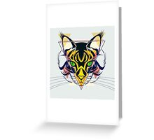 Fashion illustration of cat - animals gift Greeting Card