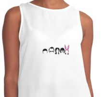 Bob's Burgers Character Silhouette Contrast Tank