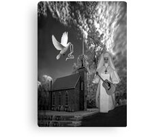 OH I'D LIKE TO GO BACK TO THAT OLD COUNTRY CHURCH-AND HEAR THE SONGS OF PRAISE - PICTURE/CARD Canvas Print