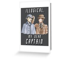 Star Trek/Sherlock Holmes Greeting Card