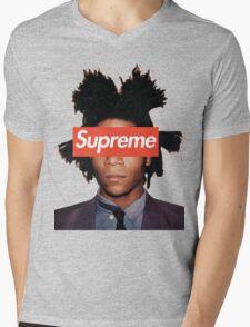 Basquiat X Supreme Mens V-Neck T-Shirt