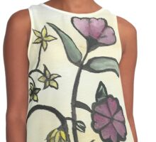 Chinese Flowers Contrast Tank