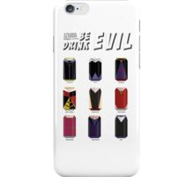 Evil Soda Cans - Female Villains Edition iPhone Case/Skin