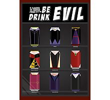 Evil Soda Cans - Female Villains Edition Photographic Print