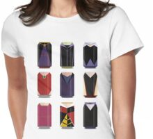 Evil Soda Cans - Female Villains Edition Womens Fitted T-Shirt