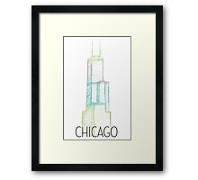 Pastel Sears Tower Chicago Framed Print