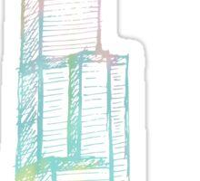 Pastel Sears Tower Chicago Sticker