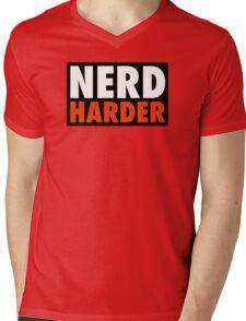 Nerd Harder Mens V-Neck T-Shirt