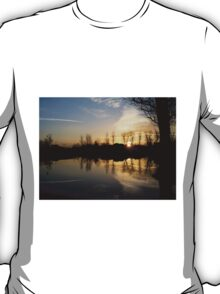 Lonely Tree During Sunrise - Nature Photography T-Shirt