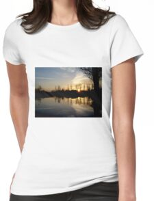 Lonely Tree During Sunrise - Nature Photography Womens Fitted T-Shirt