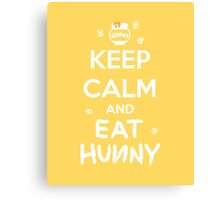 KEEP CALM - Keep Calm and Eat Hunny Canvas Print