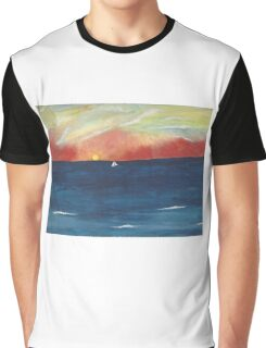 handpainted ocean Graphic T-Shirt
