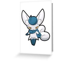 ♀ Female Meowstic - Pokemon Amie Thick Border Greeting Card
