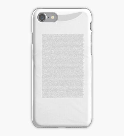 Bee Movie Script Shirt iPhone Case/Skin