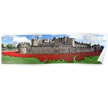 The Tower of London Remembers WWI Panorama Poster