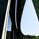 Motorway bridge over the Rio Ulla, Galicia, Spain by Andrew Jones