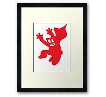 Kickman Framed Print