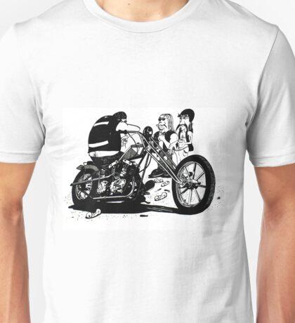 3 Bikers with Chopper Unisex T-Shirt