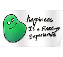 Happiness is a fleeting experience Poster
