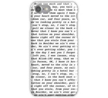 closer (chainsmokers) lyrics iPhone Case/Skin