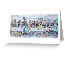 The last supper, with bikers Greeting Card