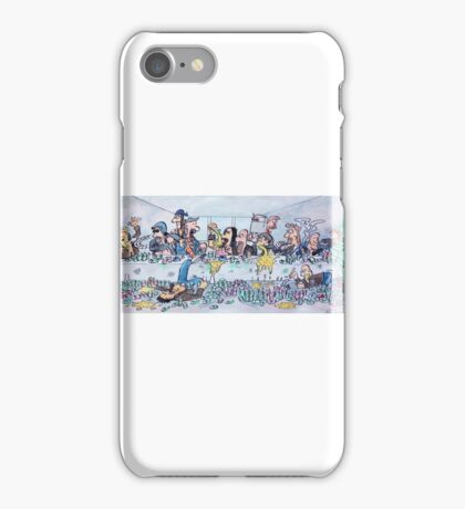 The last supper, with bikers iPhone Case/Skin