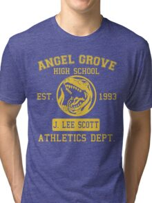 Angel Grove H.S. (Red Ranger Edition) Tri-blend T-Shirt