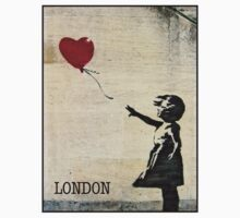 Banksy's Girl with a Red Balloon III Kids Clothes