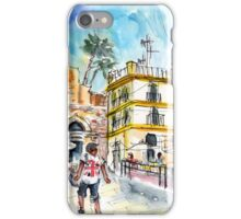 By The Old Cathedral In Cartagena 02 iPhone Case/Skin
