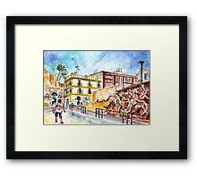 By The Old Cathedral In Cartagena 02 Framed Print