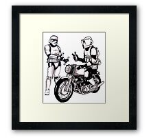 Stormtroopers with Norton Framed Print