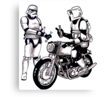 Stormtroopers with Norton Canvas Print