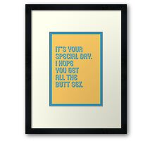 Special Day - funny greeting cards Framed Print