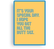 Special Day - funny greeting cards Canvas Print