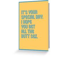 Special Day - funny greeting cards Greeting Card