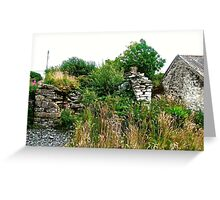 Another abandoned cottage - Donegal, Ireland Greeting Card