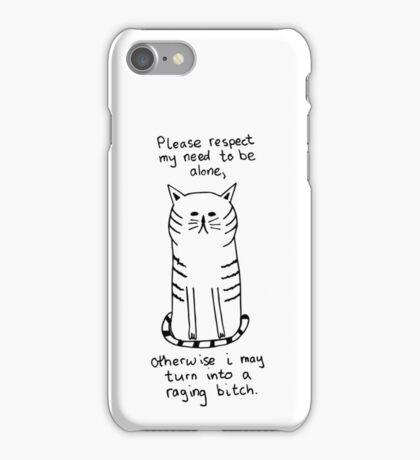 Introvert Cat - Raging Bitch iPhone Case/Skin