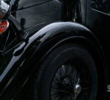 Beautiful retro car. Elegance and style of  first part of XX century. Details view. Sticker