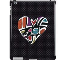 I love Fashion .Silhouette of hearts from words iPad Case/Skin