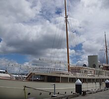 Ship in Auckland Harbour by lezvee