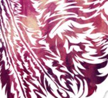Tribal Wolf Feathers Sticker