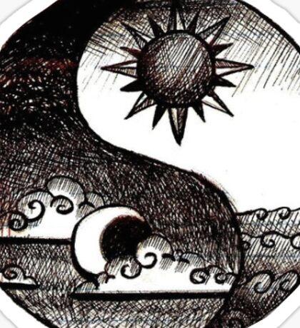 yin yang 2 Sticker