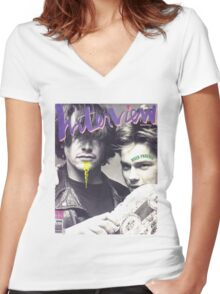 River Phoenix and Keanu Reeves (Interview Magazine) Women's Fitted V-Neck T-Shirt