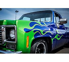 Pickup Flames  Photographic Print
