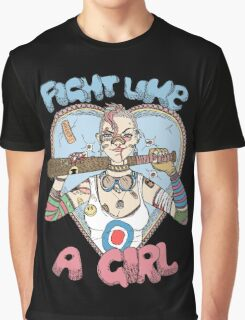 Fight Like A Girl - Fight Like A Tank Girl (Tank Girl) Graphic T-Shirt